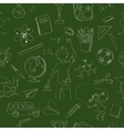 Seamless pattern school board freehand drawing vector image