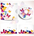 Cover design template vector image