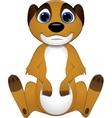 Cute baby meerkats vector image