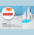 discount poster or flyer design in paper art vector image