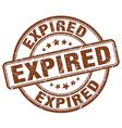 Expired brown grunge round vintage rubber stamp vector image