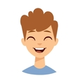 Laughing boy vector image