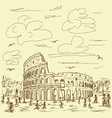 rome colosseum vintage vector image