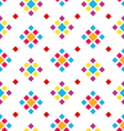 Seamless Geometric Texture with Colorful Rhombus vector image