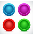 Set of colorful web buttons vector image