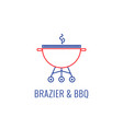 simple bbq emblem vector image