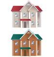 Houses of different colors vector image vector image