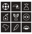 assembly stylish black and white icons brazil vector image