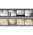 floral film strips vector image