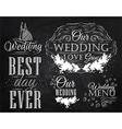 Wedding Set chalk vector image vector image