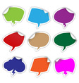 bubble stickers vector image vector image