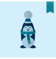 Christmas Penguin Monochrome color vector image