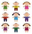 children boys and girls set vector image vector image