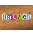 Ballet Concept vector image
