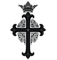 crowned cross vector image