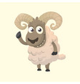 cute cartoon sheep mascot vector image