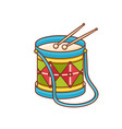 drum toy childrens toy vector image