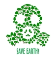 Gas mask symbol with icons of trees and plants vector image