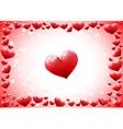 Glossy hearts frame vector image