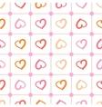 polka heart vector image