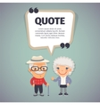 Quote Speech Banner and Elderly Couple vector image