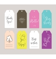 Set of labels stickers or tags Cards for vector image