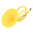 trombone icon isometric style vector image