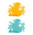tropic back set vector image
