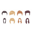 types of hairstyles icons in set collection for vector image