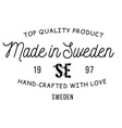 Made in Sweden stamp vector image