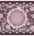 vintage card with lace and pearl frame vector image