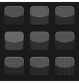 Black textured icon templates vector image