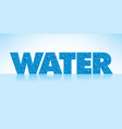 water backgrounds with text and drops vector image vector image