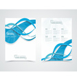Geometric design business banners with blue waves vector image vector image
