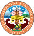 San Diego County Seal vector image