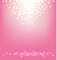 Abstract magic Light on sweet pink background vector image