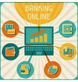 Banking online infographic vector image