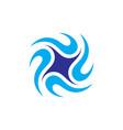 circle star spin logo vector image