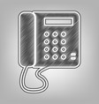 communication or phone sign pencil sketch vector image