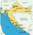 Republic of Croatia - map vector image
