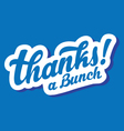 stylized thanks a bunch lettering vector image