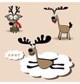 Deer smile vector image vector image