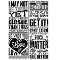 Set of Retro Vintage Motivational Quotes vector image