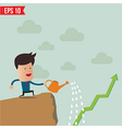 Business man watering graph vector image