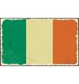 Irish grunge flag vector image vector image
