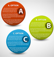 3D progress buttons vector image vector image