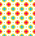 Seamless Texture with Geometric Shapes Colorful vector image vector image