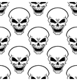Aggressive skulls seamless pattern background vector image vector image