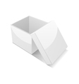 open white gift box vector image vector image