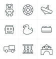 Line Icons Style Toys Icons vector image